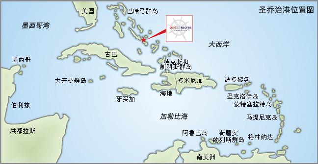 圣乔治港在长岛的占地面积不到1%