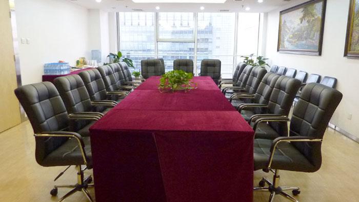 蓝堡国际中心1座2710室会议室正面
