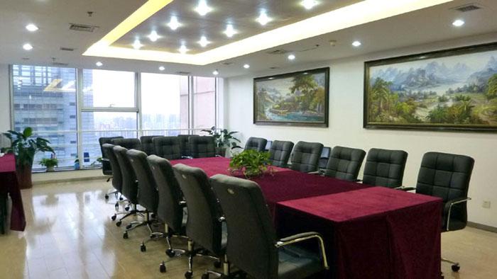 蓝堡国际中心1座2710室会议室侧面