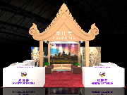 The design of booth for Cambodia at COTTM 2015  